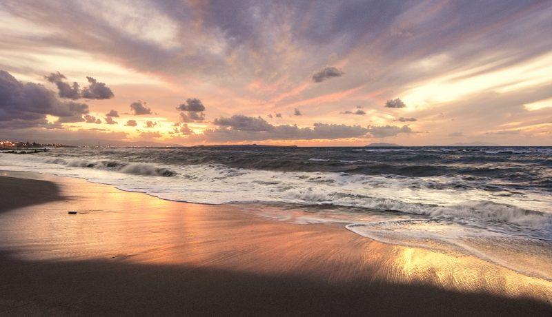 Bel tramonto a tirrenia-pisa
