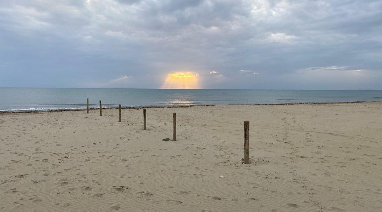 Spiaggia Tirrenia inverno.